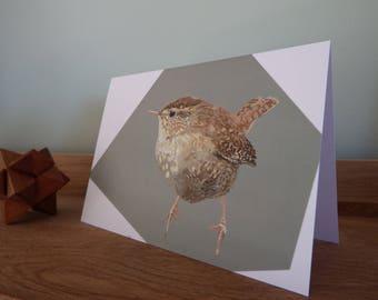 A6 Wren Greeting Card