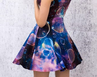 2 SIDED celestial skies Space and Planets dress milky way galaxy universe outer space astronomy galaxy clothing night sky two sided reverse