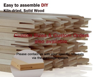 """Wooden Stretcher Bars / Stretching Strips, 3/4"""" in Height : Art Canvas Frames, DIY – Any Custom Sizes"""