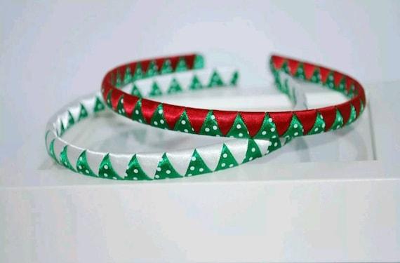 Christmas School wovenbraided Girls headband