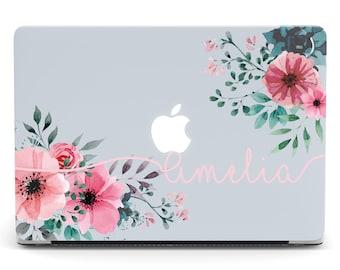 Personalized MacBook Pro 2017 Case MacBook Air 13 2018 Custom MacBook 12 Floral MacBook Pro 15 2019 Case MacBook Air 11 Clear CGD2008