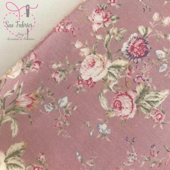 Rose and Hubble Floral Craft Cotton Solid Fat Quarter Bundle Flower Fabric