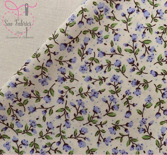 """by Metre or Fat quarter John Louden Blue Meadow 100/% Cotton 60/"""" Width Fabric"""