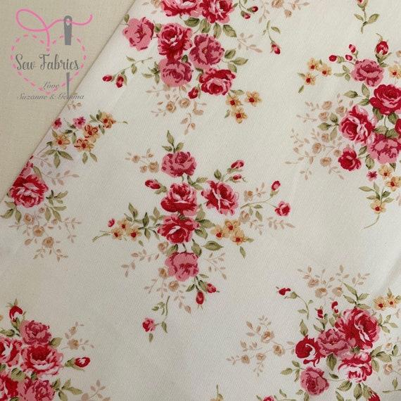White Poplin Polycotton Fabric 110cm wide