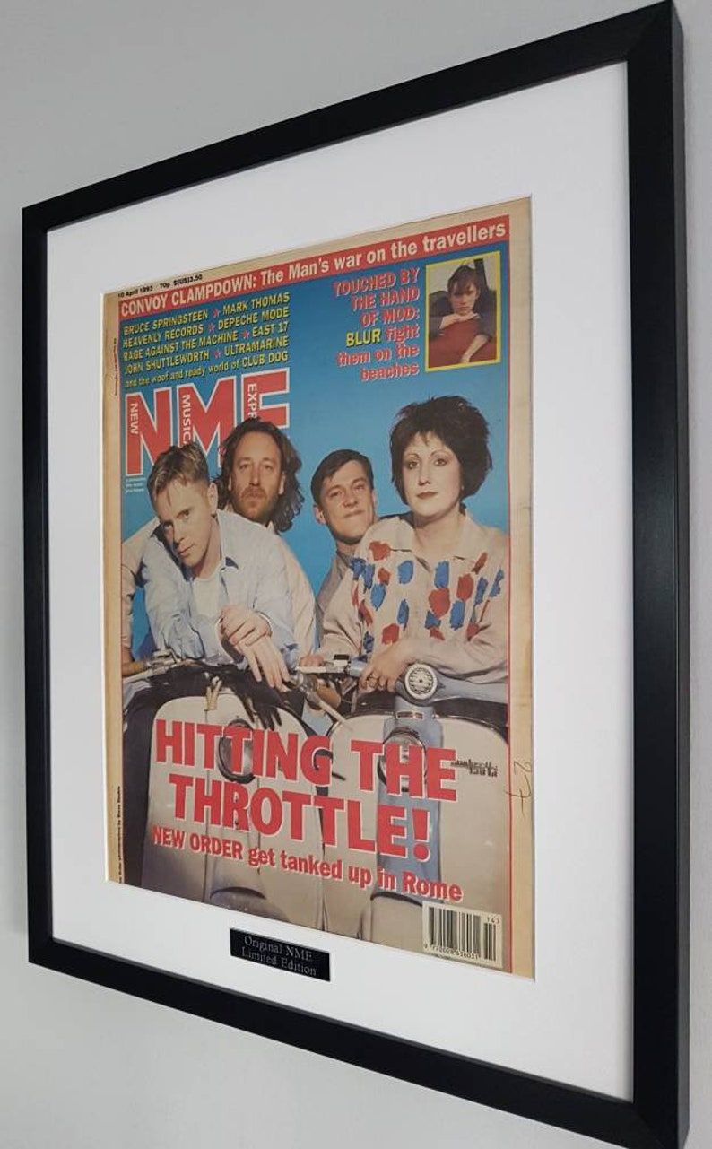 New Order Luxury Framed Original NME 1980-Certificate Supplied Totally  Unique