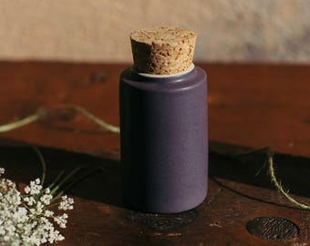 Sectional Candle Holder, Bice, ceramic (porcelain stoneware) color Marc, in gift cork stopper.