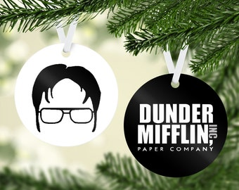 dwight schrute the office christmas ornament with free shipping