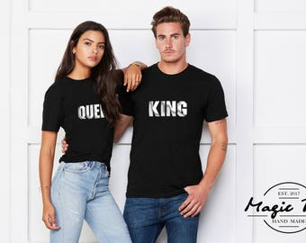 King and Queen shirts couple t shirt couple tees King Queen couple shirts funny matching couple shirts wedding gift