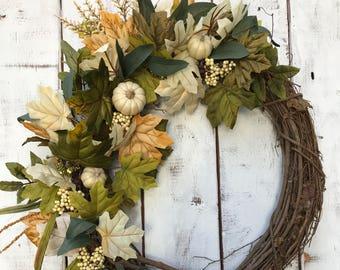 LUXE Fall Wreath, Best Seller Wreath, Autumn Wreath, Fall Porch, Fall Decor, Farmhouse Wreath, Rustic Wreath