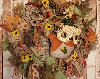 Fall Wreath - Owl Wreath