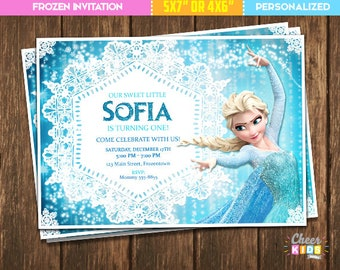 Frozen Invitation Elsa Invite Digital Birthday Custom Made Printable Card