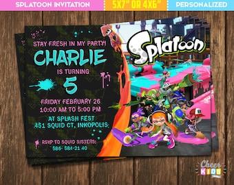 splatoon birthday etsy
