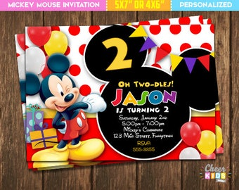 Mickey mouse invites etsy sale mickey mouse invitation filmwisefo