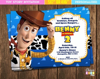 Toy story invitation Etsy