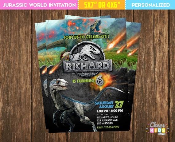 SALE Jurassic World Invitation Park Invite