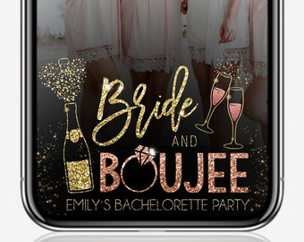 Bride and Boujee Bachelorette Filter, Bachelorette Geofilter, Boujee Geofilter, Snapchat Filter, Birthday Filter, Gold Snapchat Filter