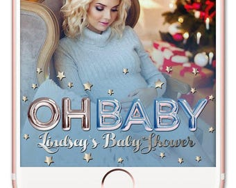 Baby Shower Snapchat Filter, Baby Shower Snapchat Geofilter, Baby Shower Snapchat, Baby Shower Geofilter, Baby Shower Filter, Oh Baby Filter