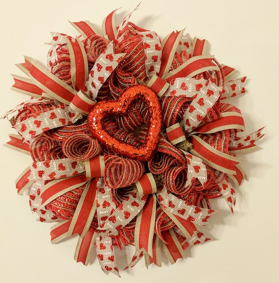 Valentines Day Wreath Valentines Day Decor For Your Etsy