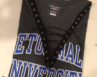 4c7dc4eb Lace Up College T-Shirt