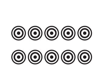 Window Scrapbooking crafting Cardmaking car wall decor Self Adhesive Bullseye Shape Vinyl Stickers Mirror different sizes//quantities available Small Target