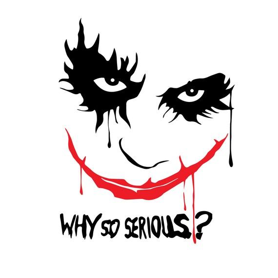 Joker Why So Serious Wall Sticker Vinyl Decal Batman Dark Knight Stencil Gift