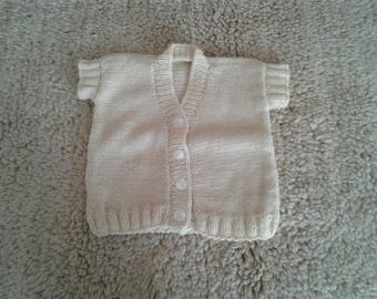 Hand knitted baby wool vest