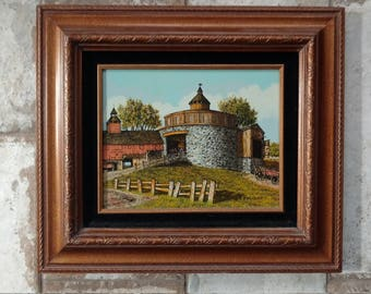 The Barn Scene by H Hargrove