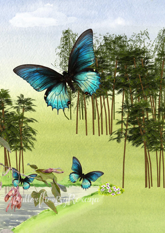Peaceful Landscape Digital art print Wall art Home / Office / Studio ...