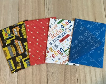 Back to school lined envelopes with notecards