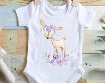 Deer Bodysuit Boho Deer Boho Bodysuit Boho Baby Clothes Baby Shower Gift Girl Baby Shower Gift Deer Shirt Boho Deer Bodysuit Boho Deer Tee