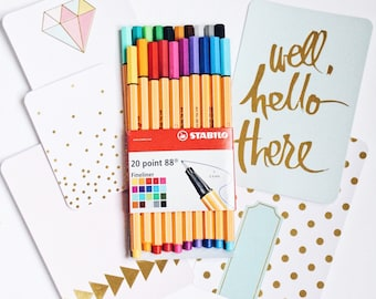 Stabilo Pens 20 Point 88 with 5 Note Cards (Gift of our shop)
