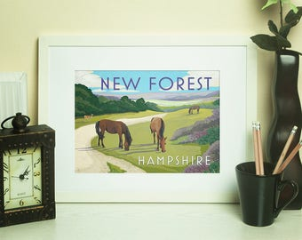 Hampshire Artwork Print - New Forest - by Jo Parry