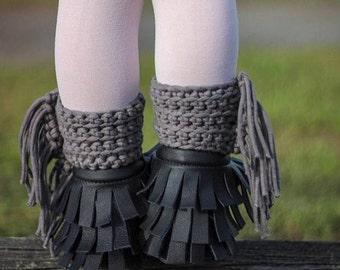 Crotchet Fringe ankle cuffs