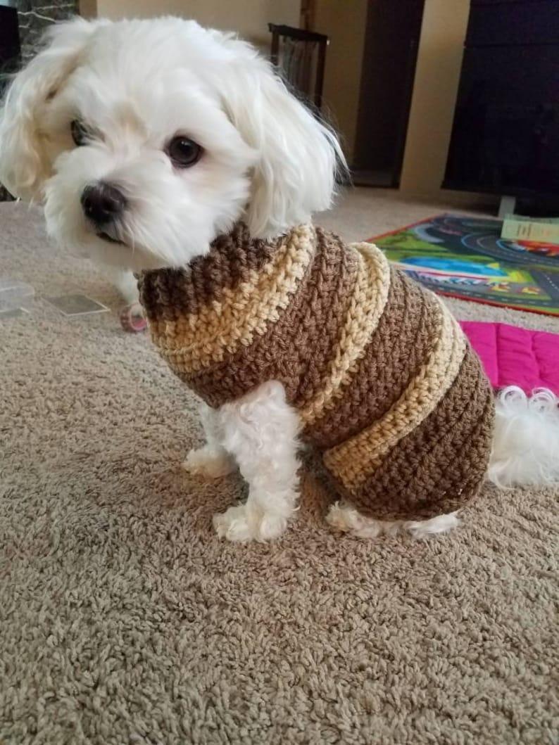 Crochet Dog Sweater Etsy