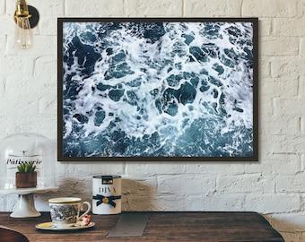 Ocean poster, Sea print, Waves, Printable, Gift idea, Wall art