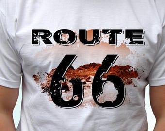 Route 66 MAN TSHIRT Route Us 66 Man Tee Shirt Get Your Kick On Route 66 Shirt