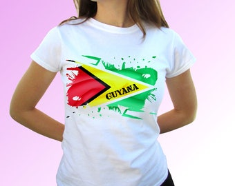 d4457306fc76 Guyana white t shirt top short sleeves - Mens