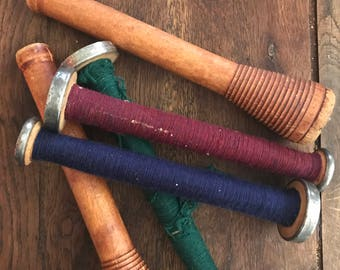 Vintage Wooden Spools - set of 5