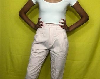1980s baby pink corduroy pants