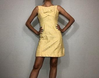 50s/60s floral brocade dress