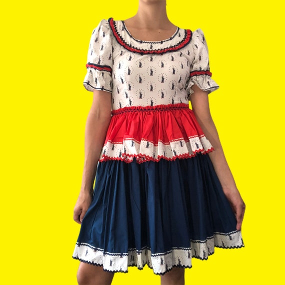 Vintage patriotic square dance dress