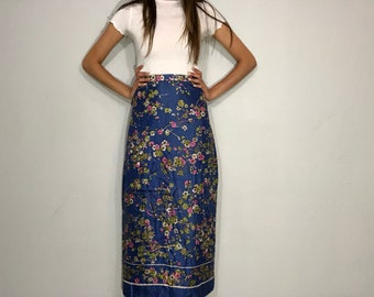 Vintage handmade floral maxi skirt