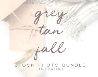Grey & Tan Fall Styled Stock Photo Bundle | Seasonal Styled Stock Photos | Branding Images | Stock Flat Lay