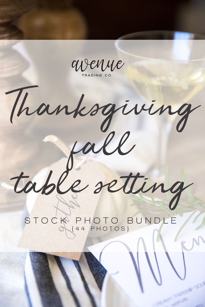Thanksgiving Fall Table Setting Styled Stock Photo Bundle  image 0