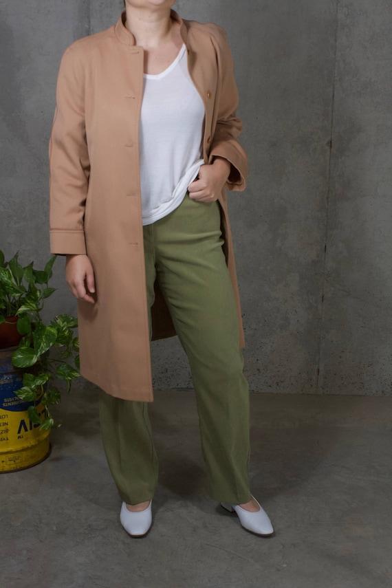 vintage 1970s light coat / dusty rose / blush / co