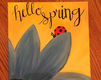 Hello Spring Painting