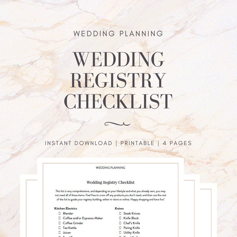 graphic regarding Wedding Registry Checklist Printable named Marriage Registry Record Printable, Prompt Obtain