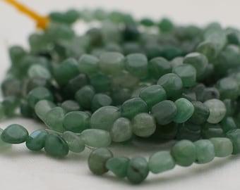 Strang 85 cm Edelstein Perlen Amazonite grün Nuggets Chip Splitter DIY Schmuck