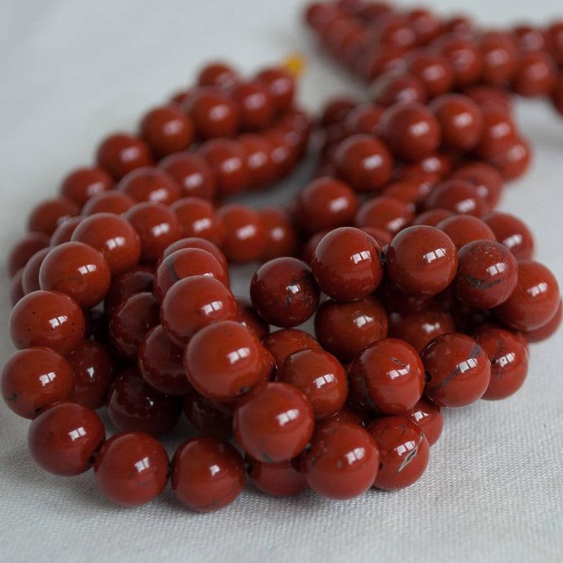 High Quality Grade A Natural Red Jasper Semi-precious Gemstone image 0