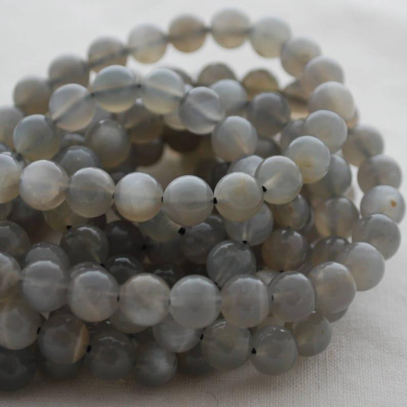 High Quality Grade A Natural Grey Moonstone Semi-precious Gemstone Round Beads 10mm sizes 8mm 16 strand 4mm 6mm